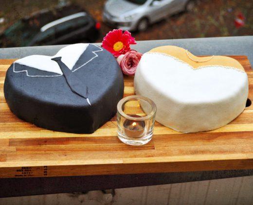 Hochzeit - Kleid und Anzug